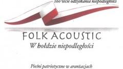 Powiat malborski: Folk Acoustic koncert w hołdzie niepodległości.