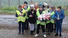 Stare Pole: XXXV pieszy rajd uczniów Szkoły Podstawowej do pomnika powstańców listopadowych w Fiszewie.