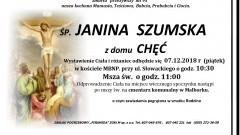 Zmarła Janina Szumska. Żyła 95 lat.