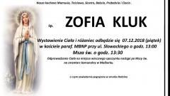 Zmarła Zofia Kluk. Żyła 90 lat.