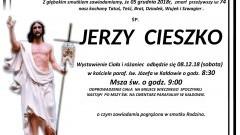 Zmarł Jerzy Cieszko. Żył 74 lata.