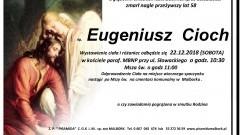 Zmarł Eugeniusz Cioch. Żył 58 lat.