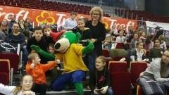 Malborscy uczniowie klas sportowych kibicowali Treflowi Gdańsk