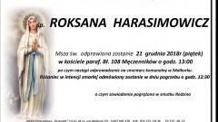 Zmarła Roksana Harasimowicz. Żyła 43 lata.