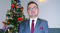 Arkadiusz Skorek, Wójt Miłoradza składa życzenia świąteczno – noworoczne.