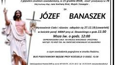 Zmarł Józef Banaszek. Żył 78 lat.