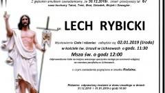 Zmarł Lech Rybicki. Żył 67 lat.