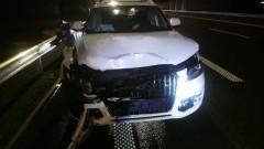 Zderzenie samochodów osobowych w Cedrach Małych.