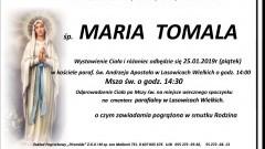 Zmarła Maria Tomala. Żyła 91 lat.