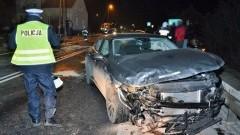 Zderzenie Audi z Volkswagenem w Miłobądzu.