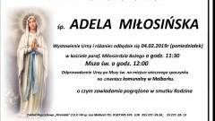 Zmarła Adela Miłosińska. Żyła 92 lata.