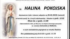 Zmarła Halina Pokojska. Żyła 86 lat.