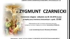 Zmarł Zygmunt Czarnecki. Żył 72 lata.