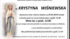 Zmarła Krystyna Wiśniewska. Żyła 96 lat.
