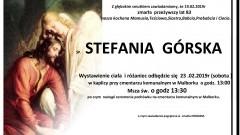 Zmarła Stefania Górska. Żyła 83 lata.