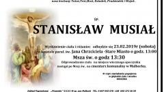 Zmarł Stanisław Musiał. Żył 83 lata.