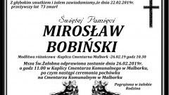 Zmarł Mirosław Bobiński. Żył 73 lata.