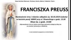 Zmarła Franciszka Preuss. Żyła 88 lat.