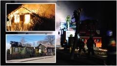 35 strażaków walczyło z pożarem budynku przy ul. Gdańskiej w Nowym Stawie.