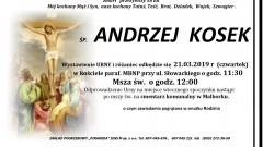 Zmarł Andrzej Kosek. Żył 58 lat.