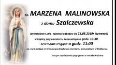 Zmarła Marzena Malinowska. Żyła 54 lata.