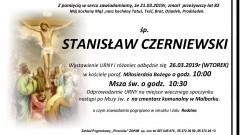 Zmarł Stanisław Czerniewski. Żył 82 lata.