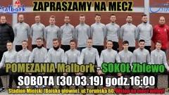 Przyjdź na mecz Pomezania Malbork – Sokół Zblewo.