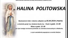 Zmarła Halina Politowska. Żyła 92 lata.