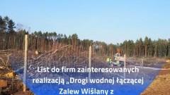 """List w sprawie """"Drogi wodnej łączącej Zalew Wiślany z Zatoką Gdańską – lokalizacja Nowy Świat"""""""