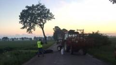 Lichnówki: Zderzenie ciągnika rolniczego z motocyklem. 39-letni kierowca motocykla w szpitalu