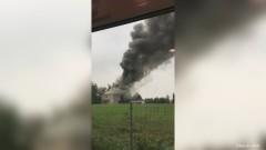 W magazynach były substancje oleiste. Pożar w fabryce biopaliw w Malborku.