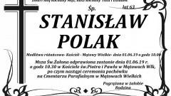 Zmarł Stanisław Polak. Żył 63 lata.