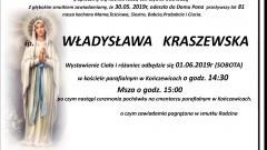 Zmarła Władysława Kraszewska. Żyła 81 lat.