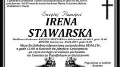 Zmarła Irena Stawarska. Żyła 89 lat.