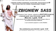 Zmarł Zbigniew Sass. Żył 92 lata.