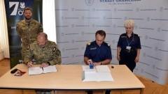 Współpraca 7PBOT z Morskim Oddziałem Straży Granicznej - podpisanie porozumienia.
