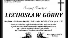 Zmarł Lechosław Górny. Żył 75 lat