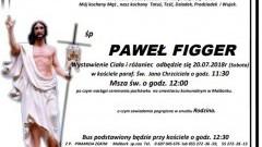 Zmarł Paweł Figger. Żył 79 lat