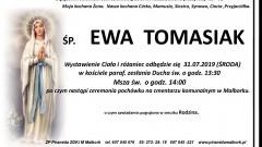 Zmarła Ewa Tomasiak. Żyła 45 lat.