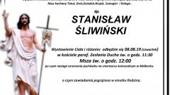 Zmarł Stanisław Śliwiński. Żył 65 lat.