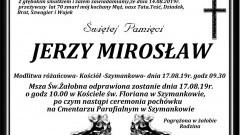Zmarł Jerzy Mirosław. Żył 70 lat.