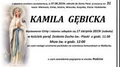 Zmarła Kamila Gębicka. Żyła 31 lat.