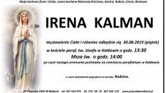 Zmarła Irena Kalman. Żyła 71 lat.