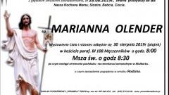 Zmarła Marianna Olender. Żyła 88 lat.