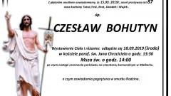 Zmarł Czesław Bohutyn. Żył 87 lat