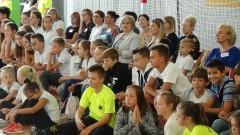 """""""W zdrowym ciele zdrowy duch"""" - uroczyste otwarcie sali gimnastycznej w malborskiej """"Trójce""""."""