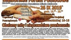 """""""Obalamy mity i nieprawdziwe przekonania""""- Malborskie Forum Pomocowe"""