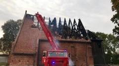 60 strażaków walczyło z żywiołem w Orłowie.