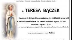 Zmarła Teresa Bączek. Żyła 81 lat.