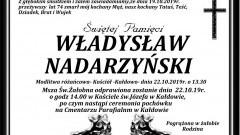 Zmarł Władysław Nadarzyński. Żył 74 lata